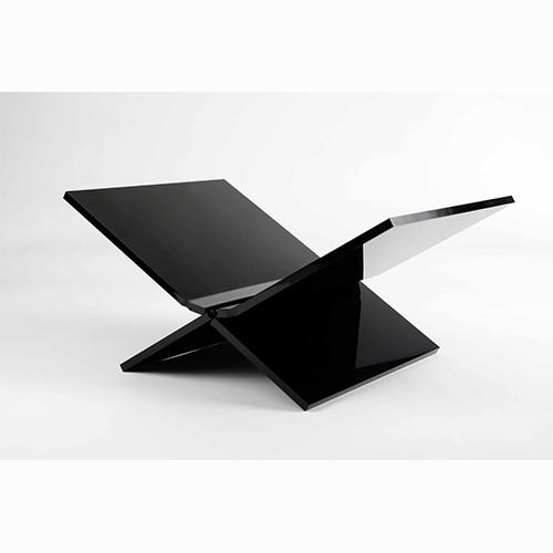 8717953273840 Boekenstandaard Perspex Zwart Design middel